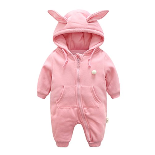 Zhuhaitf Baby Climbing Clothes Newborn Infant Winter Thick Hooded Quilted Romper Jumpsuit Bodysuit Snowsuit Outfit Grenouillères 0-12 Months