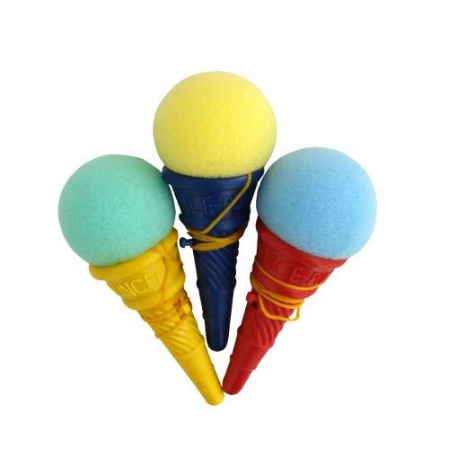 Schnooridoo 12 x Eistüte mit Ball 10 cm - Fangbecher Fangspiel Mitgebsel Kindergeburtstag Give Away Tombola