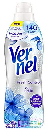 Vernel Fresh Control Cool Fresh, Weichspüler, 32 (1x32) Waschladungen, für einen langanhaltenden Duft und traumhaft weiche Wäsche