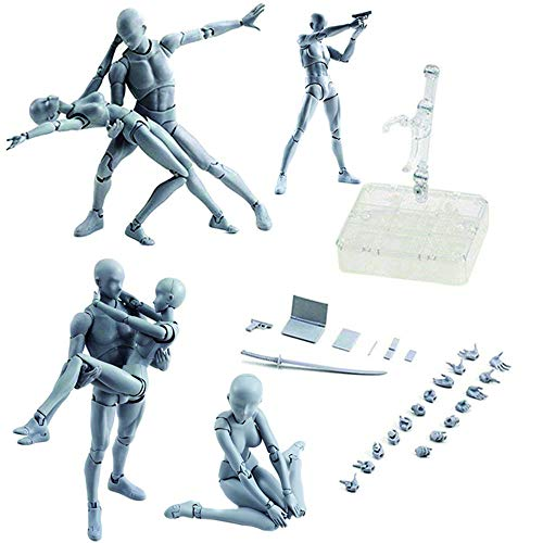 Action Figures Body Kun DX & Body Chan DX PVC Figure Model Drawing for SHF S H Figuarts (Female+Male) with Box