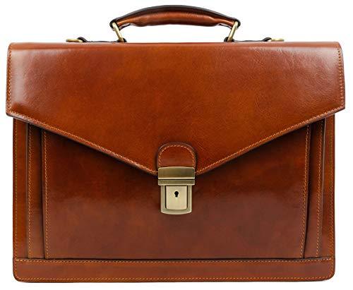 Braun Herren Ledertasche Aktentasche Umhängetasche 15 Zoll Laptoptasche Arbeitstasche Bürotasche Lehrertasche Notebooktasche Businesstasche - Time Resistance