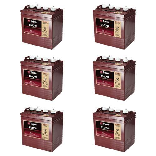Trojan T875 8 Volt, 170 AH Deep Cycle Battery - Set of 6
