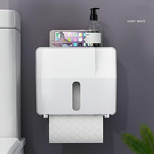 Zun068 tissue boxTissue box toilet toilet papier doos gratis punch waterdicht muur gemonteerde wc-papier lade, wit