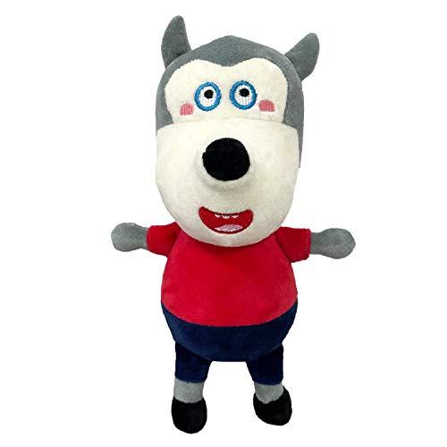 WOLFOO 견면 벨벳 귀여운 봉 제 WOLFOO 가족 봉제 장난감 적합한 팬들을 위해 봉 소년 소녀 선물 인형 11.8(레드)