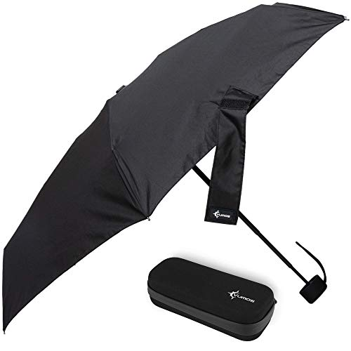 Vumos Travel Umbrella - Compact fit in your Pocket or Purse - Portable Small Mini Compact Umbrella