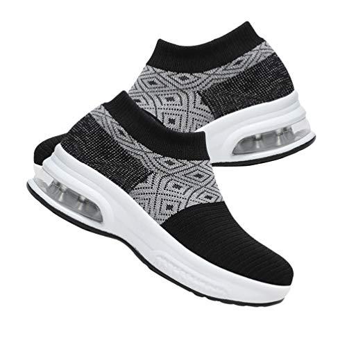 Genérico Zapatos Acolchados para Caminar con Cuña Cómodos Calcetines Transpirables para Caminar Corriendo 24CM 7US 4. 5UK 38Ue 9. 432 Pulgadas
