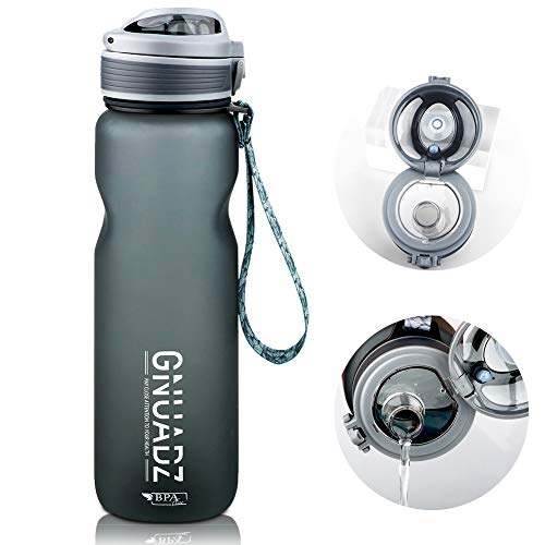 GNUADZ 36oz Water Bottle with Capacity Marker, BPA Free Water Bottle, Non-Toxic, Leakproof, Durable, for Fitness and Outdoor Enthusiasts