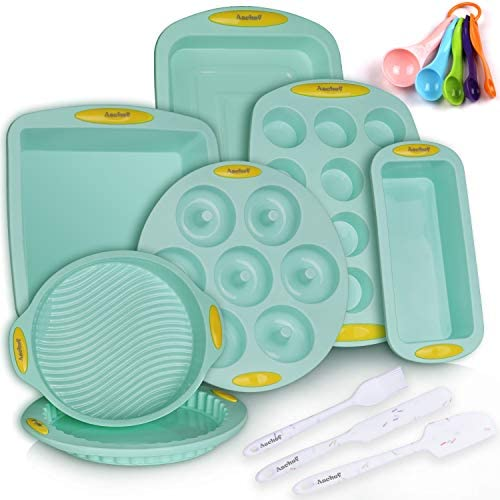 15in1 Silicone Nonstick Baking Pans Mold Tray Supplies Tools Bakeware Set BPA Free Food Grade product image