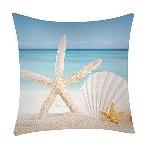 Mamum - Couverture de Coussin de Voiture de Sofa de Polyester de taie d'oreiller d'impression de mer décor à la Maison (I)