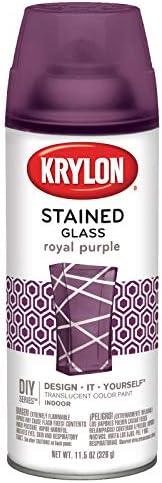 Krylon K09034000 Stained Glass Aerosol Paint, 11.5 Ounces, Tangerine Orange