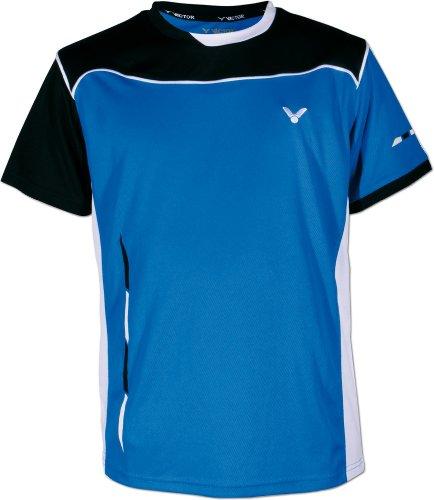 VICTOR Poloshirt Function, Blau/Schwarz/Weiß, 140