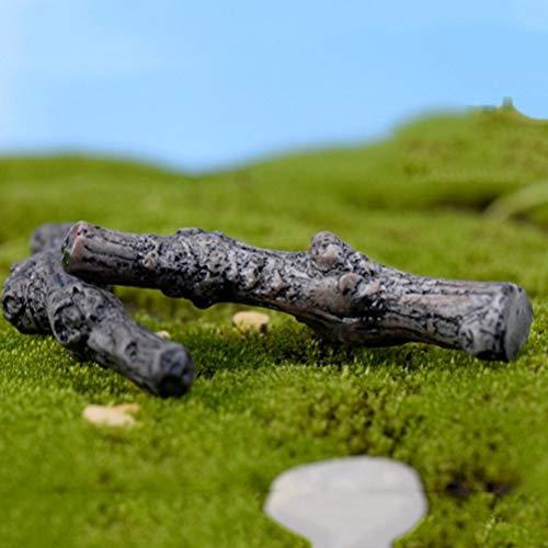 Beeldjes & Miniaturen - DIY Terrarium Vetplanten Micro Landschap Decoratie Droge Boomtakken Trunk Kunstmatige Mini Fee - Miniatuur CCTV Tuin Decor Planten