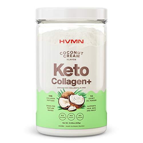 H.V.M.N. Keto Collagen+ Protein Powder: Collagen Supplement with Collagen Peptides & MCT Powder - Keto Diet Approved - 25 Servings (Coconut Cream)