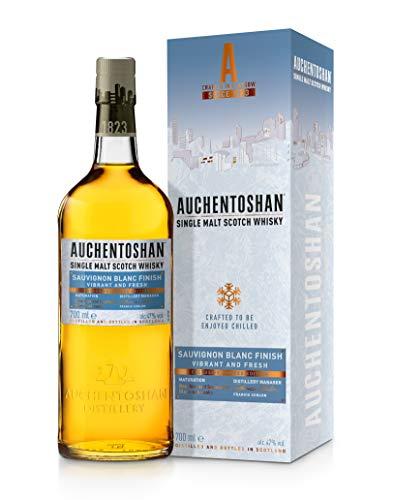 Auchentoshan Single Malt Whisky Sauvignon Blanc, mit Geschenkverpackung, bewegend frisches Aroma, 47% Vol, 1 x 0,7l