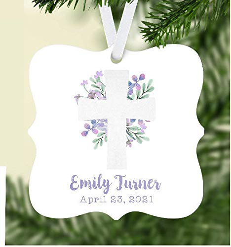 Baby Ornament Personalized Baby Ornament Girls Baby Ornament Christmas Ornament Baptism Ornament Confirmation Ornament Confirmed Ornament
