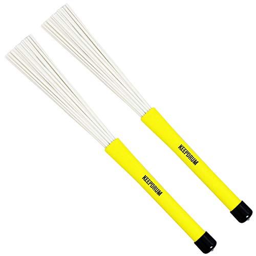 keepdrum SV602YW Nylon Brushes Schlagzeug Besen Gelb