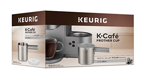 Keurig KCafé Milk Frother Cup Replacement Part or Extra Hot and Cold Frothing Compatible with Keurig KCafé Coffee Makers Only Nickel