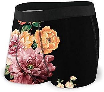 Web--ster Las Flores están llenas de Ropa Interior Masculina románica, Ropa Interior de ángulo Plano, cinturón Boxer Transpirable con Cinturilla expuesta MBF-019 Talla L