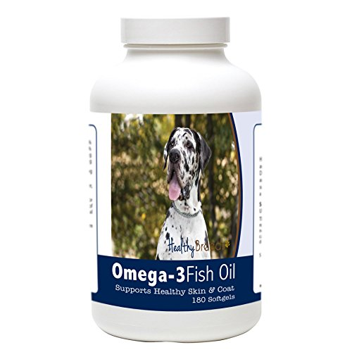 Healthy Breeds Dog Omega Oil for Great Dane, White - Over...