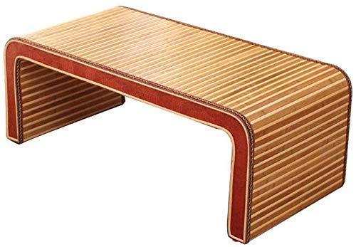 Équipement quotidien Tables d'extrémité Table basse Tatami Table basse Table d'appoint de chambre Go Table basse Fenêtre en baie chinoise Petit bureau Table en bambou de salon moderne (Couleur: Mar
