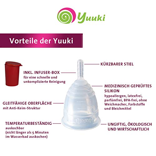 Menstruationstasse Yuuki Classic L aus medizinischem Silikon inkl. Reinigungs-Box - 2