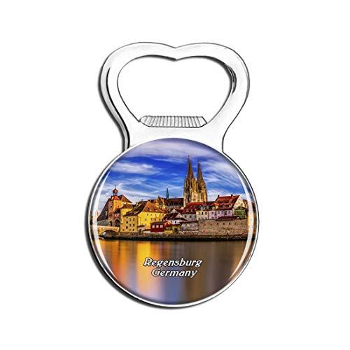Weekino Historisches Zentrum Regensburg Deutschland Bier Flaschenöffner Kühlschrank Magnet Metall Souvenir Reise Gift
