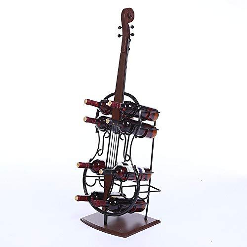 DGZJ Weinregale Cello-förmigen Weinregal Wine Storage Rack Für Home Bar. (Color : Black, Size : 10 Bottles)