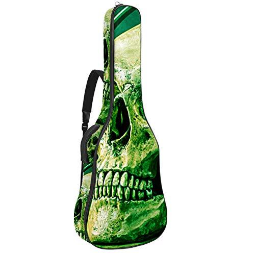 Funda para guitarra eléctrica acústica con diseño de calavera verde de 0,35...