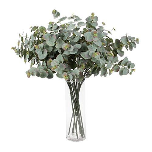 Sothat 8 Guirnalda de?Eucalipto Artificial Plantas de?Follaje de?Hoja de?DóLar de?Plata Larga DecoracióN...