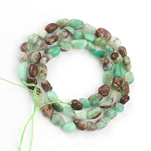 MAYAN SHYSP Chrysoprase Irregular de Piedra de Jade 5-7 mm de Granos Flojos for la joyería de DIY Que Hace Pulsera de la Mujer del Encanto del Collar de 15 Pulgadas