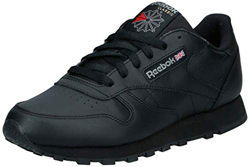 Reebok Damen Classic Leather Sneakers, Schwarz (Schwarz/black), 40 EU