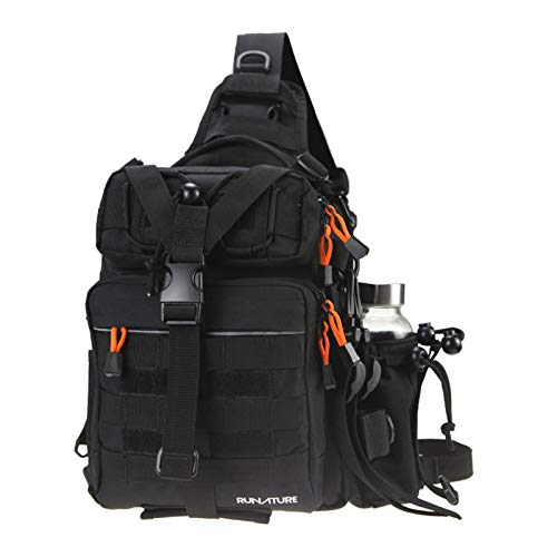 RUNATURE 11.6L Tactical Backpack Angelrucksack Wasserdichter Nylon One Shoulder Bag Cross Body Militärrucksack für Outdoor-Sportarten