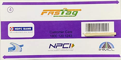 AADRAP Fast Tag for Car from Multiple Banks (HDFC)
