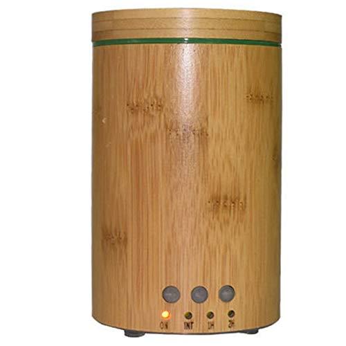 SNOWINSPRING Difusor UltrasóNico de Aroma de Grano de Madera de 150 Ml, Difusor de Aroma de Bambú Real, Humidificador de Madera, Bambú Natural, Enchufe Europeo CláSico