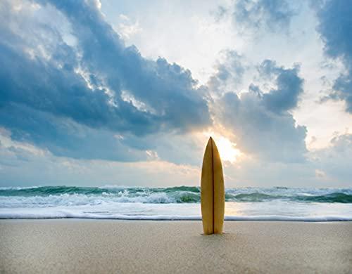 DIY Paint by Numbers,Surfboard Ocean Beach,Canvas...