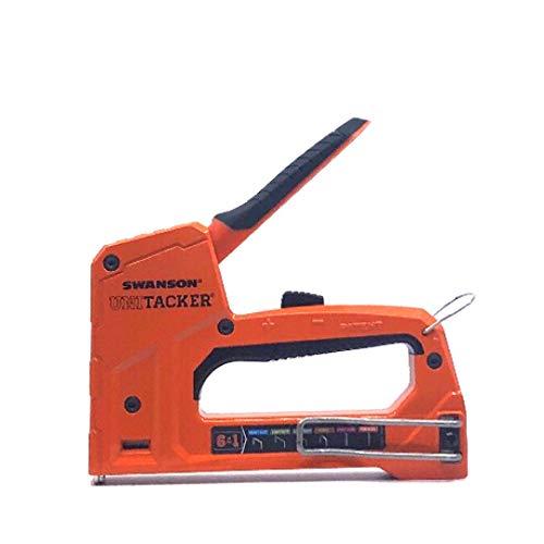 Swanson Tool Co STA869 PROMO Unitacker 6 in 1 Staple Gun/Hand Tacker; Fits...