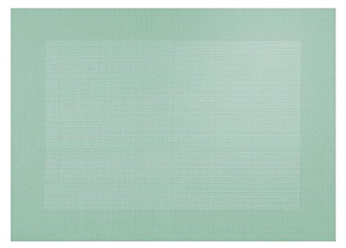 ASA Selection Tischset Kunststoff gewebt.Rand jade grün