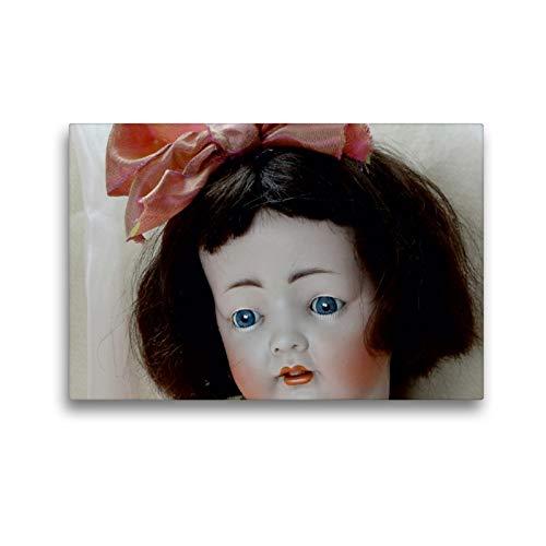 Premium Textil-Leinwand 45 x 30 cm Quer-Format Kleines Mädchen von Koenig & Wernicke   Wandbild, HD-Bild auf Keilrahmen, Fertigbild auf hochwertigem Vlies, Leinwanddruck von Birgit Presser
