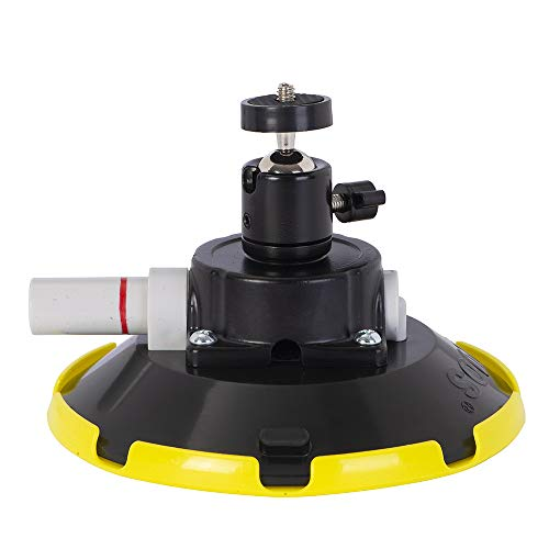 IMT 6' Car Camera Mounting Kit Pump Vacuum Suction Cup Mount, Professional Camcorder Vehicle Holder w/ 360° Panorama Ball Head and 180°, DSLR Camera Video Stabilizer Car Sucker Cup Holder