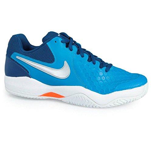 Nike Air Zoom Resistance - Zapatillas de tenis para hombre (talla 42, color azul, plata y carmesí)