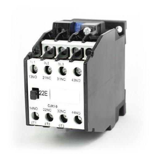 IIVVERR CJX1-9 AC Contactor 220V 50Hz Coil 9A 3-Phase 3-Pole 2NO + 2NC (CJX1-9 Contactor de CA 220V 50Hz Bobina 9A 3-Phase 3-Pole 2NO + 2NC