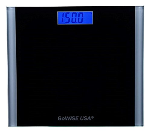 Lowest Prices! GoWISE USA Electronic Personal Digital Scale w/Step-On Techonology & Wide Tempered Gl...