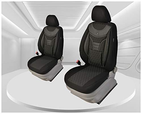 Maß Sitzbezüge kompatibel mit Ford Focus 3 Fahrer & Beifahrer ab 2010 - 2018 Farbnummer: 910