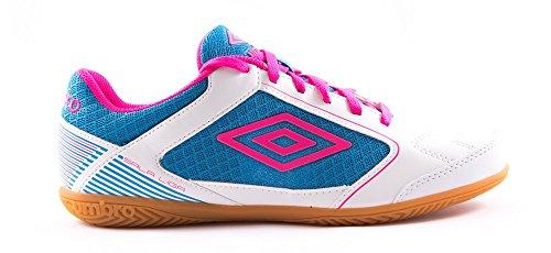 UMBRO Sala Liga IC Botas, Hombre, Blanco (White/Pink GLO/Diva Blue), 41