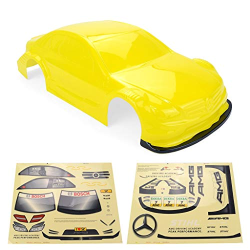 MeterMall 1/10 RC Drift Car On-road Car PC Body for Yokomo Touring Car Tamiya HPI Kyosho HSP Redcat FS ACME LRP Yellow 1/10