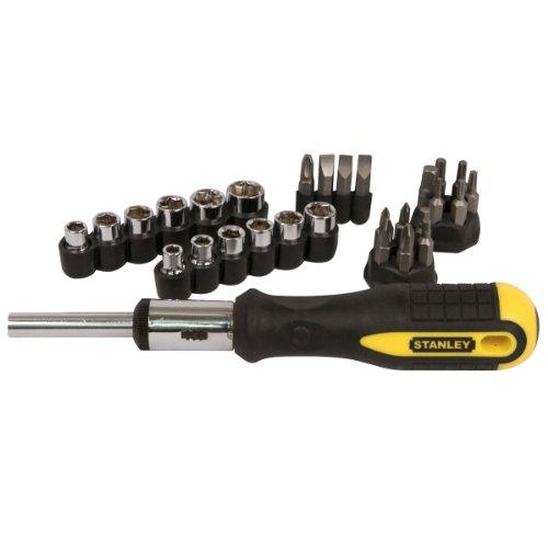 Draper 054925 - Juego de destornillador de trinquete y puntas (29 piezas)