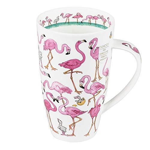 Henley Dunoon Becher Flamingo 600 ml Design Porzellan Kaffeetasse Kaffee Tasse