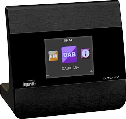 Imperial 22-241-00 Dabman i400 Internet-/DAB+ Radio (Stereo Sound, Internet/DAB+/DAB/UKW, Bluetooth, Multiroom, Equalizer, UPnP-Audio Streaming, WLAN, LAN, Line-Out inkl. Netzteil) schwarz