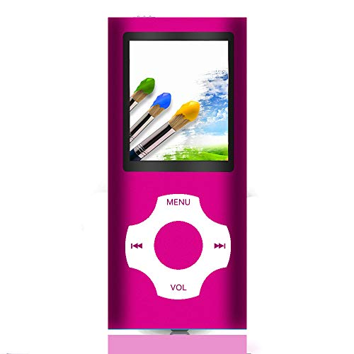 Tomameri - Portable MP3 / MP4 Player with Rhombic Button, Including a Micro SD Card and Support Up to 64GB, Compact Music, Video Player, Photo Viewer Supported (Pink)