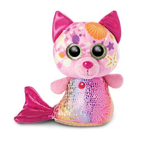 NICI 46825 Original-Glubschis Meerjungfrau Katze Aqua-Marie 15cm-Kuscheltier Augen – Flauschiges Plüschtier mit großen Glitzeraugen – Schmusetier für Kuscheltierliebhaber